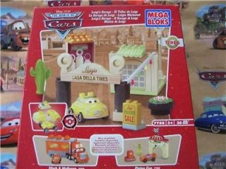 Disney Cars Mega Bloks blocks Luigis Garage 7788 retired. i