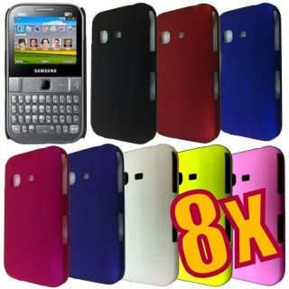 8x Back Cover Hard Case for Samsung Chat 527 S5270