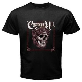 New CYPRESS HILL Rap Skull Album Music Mens Black T Shirt Size S M L