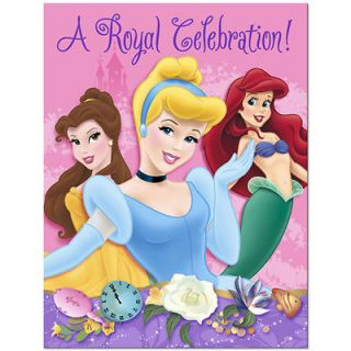 Disney Princess Birthday Invitations & Thank You Notes 8 pack