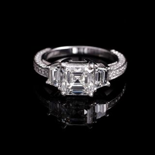 asscher cut diamond rings