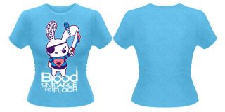 BLOOD ON THE DANCE FLOOR Blood Bunny T shirt (Blue) Ladies New
