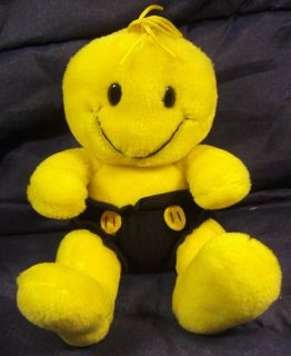 EUC Tickle Wiggle Plush 9 Yellow Smiley Happy Face Stuffed Animal