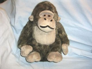 Dan Dee Plush Gorilla 10 Two Tone Gray Cuddle Ape No Tail Collectors
