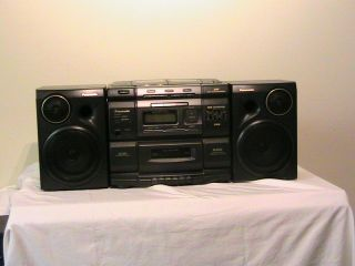 PANASONIC RX DS750 3 DISC CD PLAYER   BOOM BOX & TAPE DECK