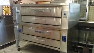 Bakers Pride Stainless Steel y602 Pizza Ovens Double Stack Pizza Ovens