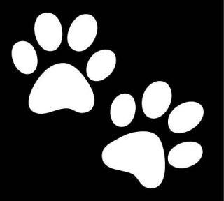 Dog Paw Print Footprint Decal Kit Puppy Sticker