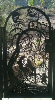 GATE SALE CUSTOM WROUGHT IRON STEEL GARDEN DECORATIVE ORNAMENTAL ENTRY