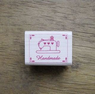 Decorative Stamps Rubber Stamp_Handmade Label sewing machine heart