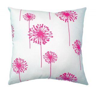 Premier Prints Dandelion White & Candy Pink Decorative Throw Pillow