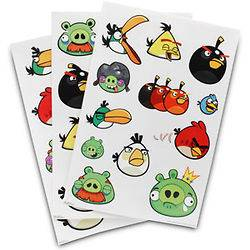 Angry Birds Wall Decal Decorative Room Sticker Reuseable 36 Piece