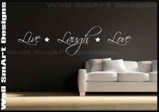 Sticker Quote Live Love Laugh Decorative Mural Decal Vinyl Sticker
