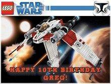 Star Wars Lego #5 Edible CAKE Icing Image topper frosting birthday