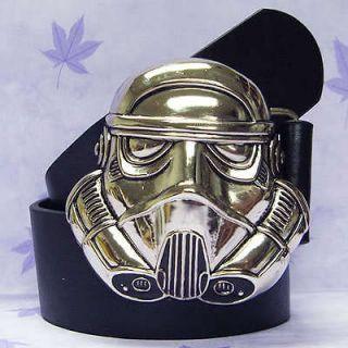 STAR WARS Stormtrooper 3D Helmet Metal Buckle Belt BL084B