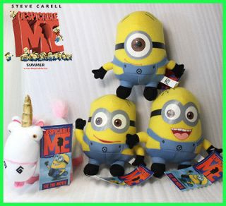 Despicable Me Minion Unicorn Memorabilia 4x Plush Toy Stuffed Animal
