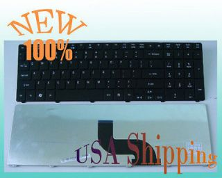 New USA Layout Black Keyboard for Acer Aspire 7535G 7540 7540G 7551