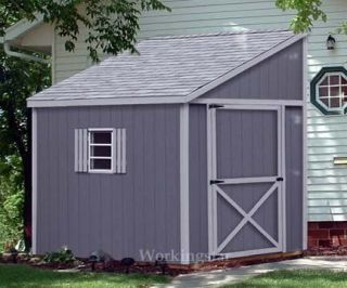 x10 Slant / Lean To Style Shed Plans, See Samples