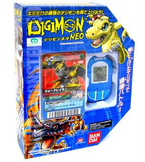 DIGIMON BLUE NEO PENDULUM DIGIVICE+LIMITED DIGIMON GAME CARD RARE