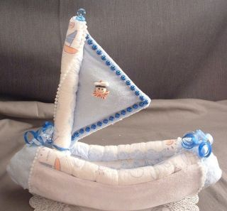 SAILBOAT Diaper Cake Decorations Baby Shower Boat Topper