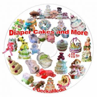 How to Make a Diaper Cake and Baby Shower Crafts Book & Video