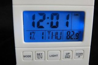 Travel Blue LED LCD Alarm Clock Count Down Timer Desktop Calendar
