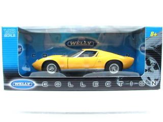 WELLY 1971 Lamborghini Miura SV Yellow 1/18 DIECAST CAR