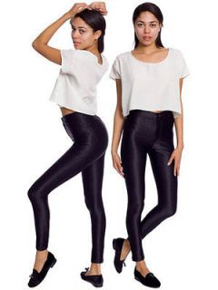 BNWOT American Apparel Disco Pants Trouser Black XS