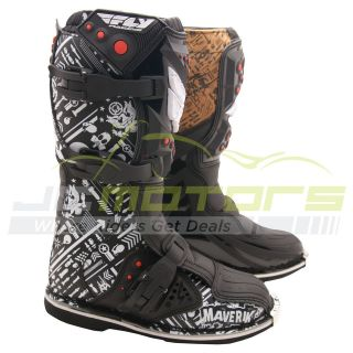 Fly Racing Youth Kids Size 6 Arsenal Motocross Dirt Bike Riding Boots