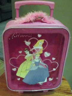 DISNEY PRINCESS ROLLING SUITCASE   Carry On Bag   Wheeled Luggage ~