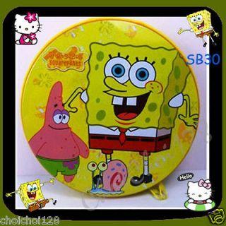 New Spongebob PSP CD DVD Metal Portable Storage Bag 12pages/ 24pcs