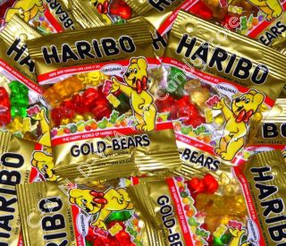 HARIBO GOLD BEARS GUMMI CANDY Mini Gummy Bear Candies