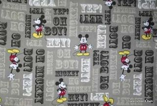 Handcrafted Words Curtain Valance Sewn From Disney Mickey Mouse Fabric