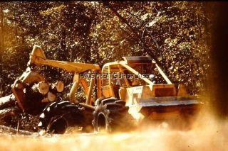 1977 35mm SLIDE CLARK EQUIPMENT RANGER LOG MOVER WINCH? ACTION
