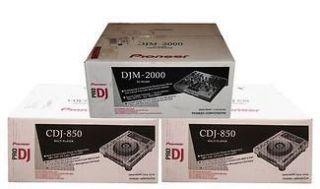 PIONEER PAIR CDJ 850 DJ CD PLAYER MEDIA DJM 2000 MIXER
