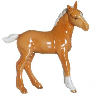 BESWICK PALIOMINO HORSE FIGURINE SHIRE FOAL PORCELAIN MADE IN ENGLAND