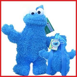 Sesame Street Cookie Monster Plush Doll Backpack Plush Figure Bag 14