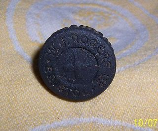 Antique STONEWARE GINGER BEER BOTTLE STOPPER TOP W. J. ROGERS Ltd