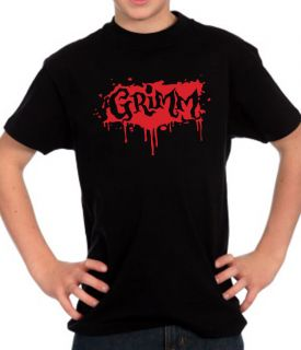 GRIMM TV SERIES KIDS T SHIRT. FANTASY/GOTHIC CRIME DRAMA SERIES