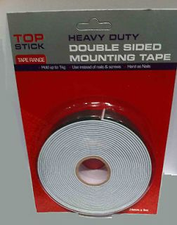 HEAVY DUTY DOUBLE SIDED CAR NUMBER PLATE STICKY FOAM TAPE  HOLDS 1KG