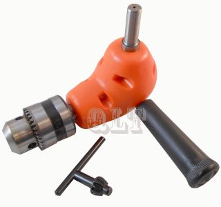 Right Angle Drill Adaptor Attachment Metal Gear Fits Most Drills