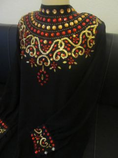 XL Abaya Takshita Takchita Jilbab Oriental Wedding Henna Dress N.7