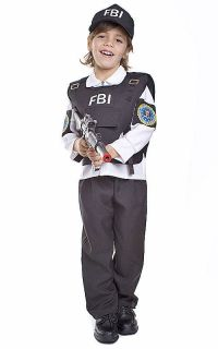 FBI Agent Halloween costume kids Dress Up Halloween costume
