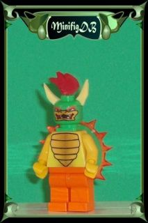 Custom LEGO Super Mario game figure Bowser #10fE