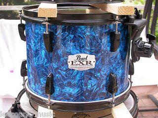 PEARL EXR EXPORT SERIES 12 BLUE PRIZM RACK TOM DRUM for DRUM SET LOT