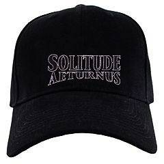 SOLITUDE AETERNUS EMBROIDERED CAP BLACK HAT DOOM METAL REVEREND
