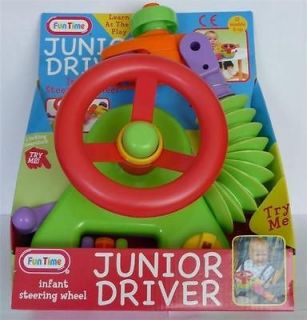 NEW GIRLS BOYS BABY TOY JUNIOR DRIVER TOY STEERING WHEEL CAR SEAT