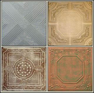 Imitation tin ceiling tiles