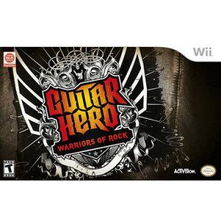 Guitar Hero Warriors of Rock Band Kit Bundle [T] WII
