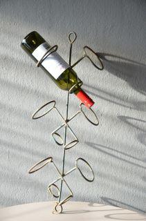 wine bottle drying rack