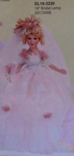 18 Porcelain Bridal Lamp by Duck House Heirloom Dolls DL18 3220